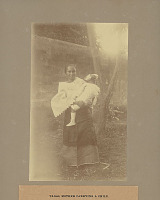 view Woman with Infant Near Masonry Wall 1901 digital asset number 1