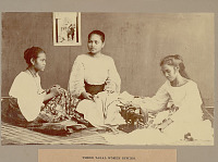 view Three Women Sewing, One with Machine 1901 digital asset number 1