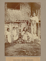 view Family Group in Costume Outside Pole and Thatch House 1901 digital asset number 1