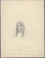view Portrait of Second Chief, In-Er-Cult-Say (Big Canoe), 55-60 Years Old JUN 1854 Drawing digital asset number 1