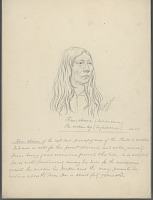 view Portrait of Kou-Sheene (Broken Leg), 40 Years Old 22 APR 1854 Drawing digital asset number 1