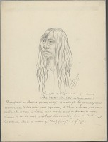 view Portrait of Chief Kols-Seese-Kal-Lay, Called Bonaparte, 35 Years Old 26 APR 1854 Drawing digital asset number 1