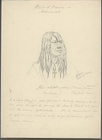 view Portrait of Whe-Whitth-Schay, Called Michelle with Hair Braids and Wearing Crucifix 27 APR 1854 Drawing digital asset number 1