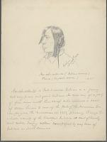 view Portrait of Nu-Ah-Ute-Se, Called Pierre with Hair Braids (Profile) 24 APR 1854 Drawing digital asset number 1