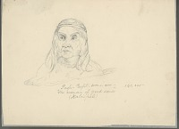 """view Portrait of Pagh-Paght-sem-i-am-""""The woman of good sense"""" (Kalisipel) Drawing digital asset number 1"""