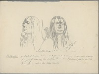 view Portrait (Profile and Full-Face) of Choitz-Kan with Quiver And Bow 20 APR 1854 Drawing digital asset number 1