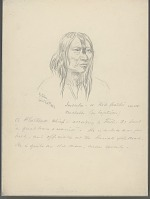 view Portrait of Chief Insula (Red Feather), Called Michelle, 70 Years Old 26 APR 1854 Drawing digital asset number 1