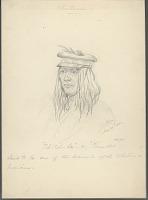 view Portrait of Til-Til-La (Thunder) Wearing Cap 22 MAY 1854 Drawing digital asset number 1