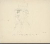 view Portrait (Profile) of Chief Victor with Hair Braids And Wearing Top Hat n.d. Drawing digital asset number 1