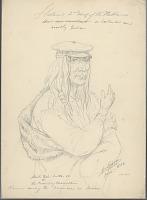 view Portrait of Second Chief, Streit-Tish-Lutse-So (Crawling Mountain), Called Moose, Wearing Hair Braids, Cap and Fur Robe JUN 1854 Drawing digital asset number 1