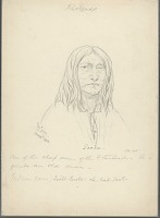 view Portrait of Quill-Quill-Che-Koil-Pent, Called Pacha, as an Old Man, Blinded in One Eye and Wearing a Crucifix 15 MAY 1854 Drawing digital asset number 1