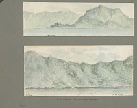view Views of Breaker Point and Leloalua Village, Pago Pago Harbor, Tutuila Island, From Shipboard Painting digital asset: Views of Breaker Point and Leloalua Village, Pago Pago Harbor, Tutuila Island, From Shipboard Painting