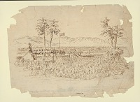 """view """"Feast for the Indian Council"""" 1853 Drawing digital asset number 1"""