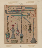 view Asian Pipes and Waterpipes n.d. Lithograph digital asset number 1