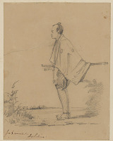 """view """"Japanese Soldier"""" 1853 Drawing digital asset number 1"""