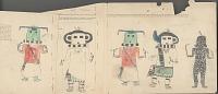 view Five Kachinas Drawing digital asset: Five Kachinas Drawing