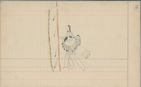 view Anonymous Arapaho drawing of Indian holding spear and shield digital asset: Anonymous Arapaho drawing of Indian holding spear and shield