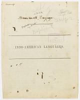 view MS 1827 Massachusetts or Natick vocabulary digital asset: Massachusetts or Natick vocabulary