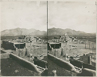 view View of Pueblo and Mountain digital asset: View of Pueblo and Mountain
