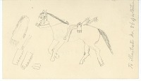 view Anonymous drawing, possibly Cheyenne, of man, 1879 digital asset number 1