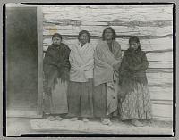 view Hunkpapa Dakota women, Sitting Bull's two wives and two daughters 1890 digital asset number 1