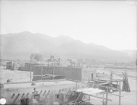 view View of North Pueblo From the Southwest Showing Beehive Ovens and Wagon 1899 digital asset number 1