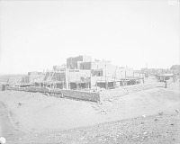 view View of South Pueblo From Southeast Showing Beehive Ovens and Adobe Wall 1899 digital asset number 1