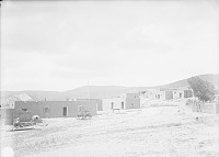 view View From the Southwest of Pueblo with Beehive Oven, Wagon, and Water Trough 1899 digital asset number 1