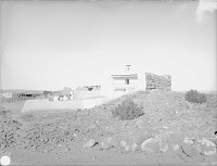 view View of the Old Church Looking Southwest, Group of Four Sitting On Adobe Wall 1899 digital asset number 1