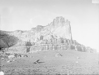 view View of Site of Ancient Pueblo at Southwest Base of Taaaiyalna or Taaiyalone Mountain 1899 digital asset number 1