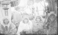 "view Group from Kotzebue Sound Village, in Native Dress, Aboard Cutter, ""Corwin"" 1877 digital asset number 1"