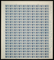 "view 6c National Parks Crater Lake original ""Farley's Follies"" uncut press sheet digital asset number 1"