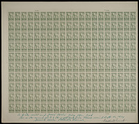 "view 8c National Parks Zion original ""Farley's Follies"" uncut press sheet of 200 digital asset number 1"
