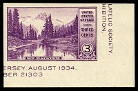view 3c American Philatelic Society souvenir sheet Mt. Rainier single digital asset number 1