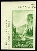 view 1c Trans-Mississippi Philatelic Exposition souvenir sheet Yosemite single digital asset number 1