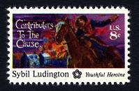 view 10c Sybil Ludington single digital asset number 1