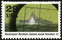 view 29c Sinking of Destroyer Reuben James single digital asset number 1