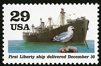 view 29c Liberty Ship single digital asset number 1