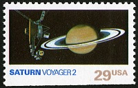 view 29c Saturn and Voyager 2 single digital asset number 1