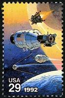view 29c Sputnik, Vostok, Apollo Command and Lunar Modules single digital asset number 1