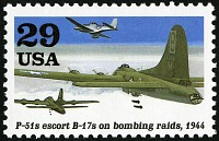 view 29c P-51s Escort B-17s On Bombing Raids single digital asset number 1