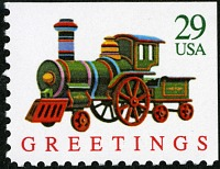 view 29c Toy Train Enging booklet single digital asset number 1