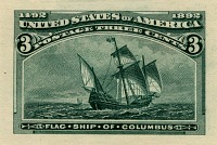 view 3c Columbian Exposition Panama-Pacific small die proof digital asset number 1