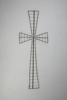 view <I>Wire frame, casket cross, large</I> digital asset number 1