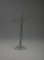 view <I>Wire frame, slanted cross on stand</I> digital asset number 1