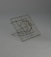 view <I>Wire frame, half sphere on square with folding stand</I> digital asset number 1