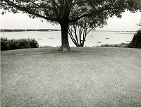 view [Unidentified Garden in Massachusetts, No. 2]: view of water and boats. digital asset: [Unidentified Garden in Massachusetts, No. 2] [photoprint]: view of water and boats.