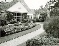 view [Unidentified Garden in Massachusetts, No. 3]: front of house, showing borders. digital asset: [Unidentified Garden in Massachusetts, No. 3] [photoprint]: front of house, showing borders.