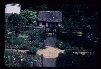 view [Mrs. Hathaway's Garden] [slide (photograph)]: The kitchen garden before the boxwood parterres were planted digital asset number 1