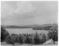 view [Miscellaneous Sites in the Adirondack Mountains]: an unidentified location, possibly Lake Colby near Saranac Lake. digital asset: [Miscellaneous Sites in the Adirondack Mountains] [glass negatives]: an unidentified location, possibly Lake Colby near Saranac Lake.